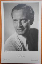 "Hans Stuwe, German Actor, Vintage ""Ross"" Verlag Postcard c60s"